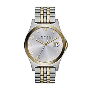 Marc Jacobs MBM3319 - Reloj de cuarzo para mujer, correa de acero inoxidable multicolor de Marc Jacobs