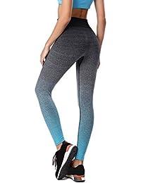 Pantalons Elastiques de Yoga de Sport Leggings de Sécheresse Rapide Minces Rayés Pour Femmes