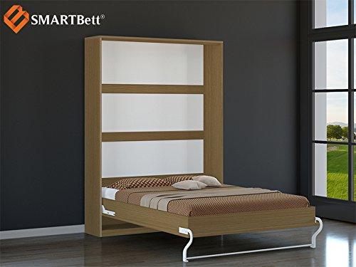 SMARTBETT Schrankbett Gästebett murphy bed140x200 vertikal Buche - 2