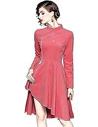 f1d0236926e0 WTUG® Chinese Cheongsam Velvet Due Pezzi Luxury Fashion Chinese Style  Migliorata Cheongsam Autumn Winter Women