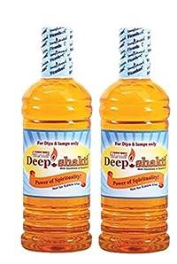 Deepshakti Lamp Oil for Pooja/Diya Oil -Pack of 2 Get