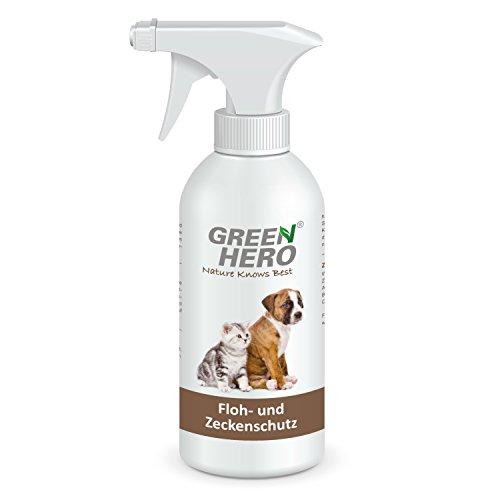 GeenHero Floh- und Zeckenschutz zur Anwendung am Tier | 500 ml | Für Hunde und Katzen | Blocker gegen Zecken, Flöhe, Läuse und Milben | Wirkstoffe sind natürliche, ätherische Öle mit pflegender Wirkung