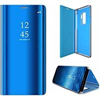 Funda Galaxy S9 Plus Carcasa Samsung S9 Plus Carcasa PU Leather Con TPU Silicona Case[Protector de Pantalla de Vidrio Templado] Desmontable Ultra-Delgado Anti-Arañazos Galaxy S9 Plus Funda Protectora -360 °complete package protection- Azul