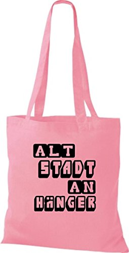 a4d3e4ca1fc97 Shirtstown Stoffbeutel lustige Sprüche Altstadt Anhänger viele Farben rosa