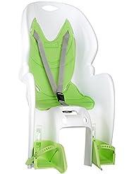 'nfun Amico–Silla trasera al marco unisex niños, Amico, blanco/verde, M