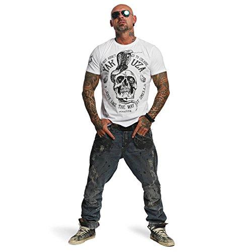 Yakuza Original Herren Addicted T-Shirt Weiß