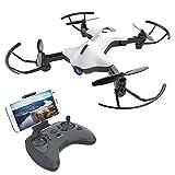 ATOYX AT-146 FPV RC Drohne, Quadrocopter mit 150° Weitwinkel 720P HD Kamera mit app Steuerung HD Kamera Live Übertragung Automatische Höhenhaltung, Headless ModusDrohne für Anfänger und Kinder (Weiß)