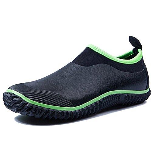 ukStore ukStore Damen Herren Gummistiefel Gummistiefelette Kurzschaft Regenstiefel Regen Boots Wasserdichte Gartenschuhe,Grün,35.5 EU/Label Size 36