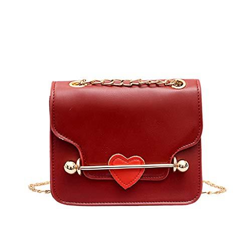 Mitlfuny handbemalte Ledertasche, Schultertasche, Geschenk, Handgefertigte Tasche,Frauen-kleine quadratische Beutel-einzelne Schulter-Herzdekoration Kuriertaschen -