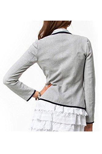 Le Donne Di Colore Casuale Per Bodycon Outwear Manica Lunga Giacca Più Dimensioni Gray