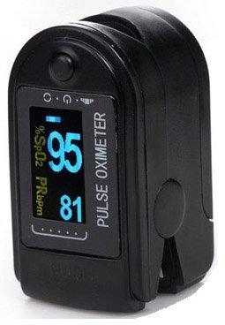 AVAX AV-50D - Fingerpulsoximeter (Finger Pulse Oximeter) - {d6caf064b177d9a251d835c9a2eb365279c78c4939fb78ed14ed488dfb64c59c}SpO2 (Sauerstoffsättigung des Blutes) & Herzfrequenzmesser mit LED-Anzeige und Zubehör - SCHWARZ