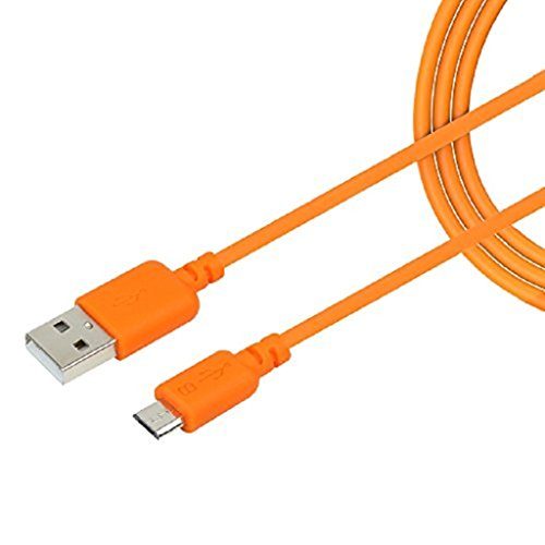 New RICH WALKER Premium Quality Faster Charging 1M USB Charging And Data cable Compatible with Zync Cloud Z 401- Orange(Compatible with All Smart Phones Models)  available at amazon for Rs.249