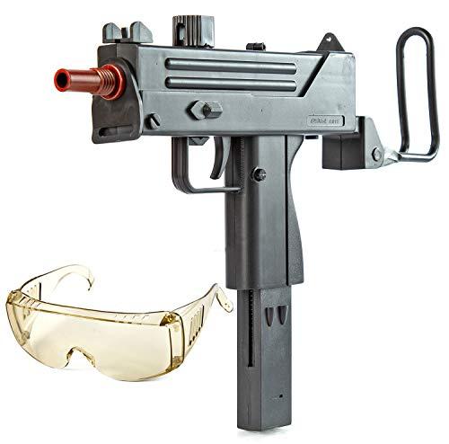 Nerd Clear Softair Gewehr Uzi |inkl. Schutzbrille mit Startmunition