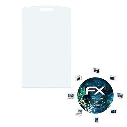 atFolix Schutzfolie kompatibel mit LG Shine KE970 Panzerfolie, ultraklare und stoßdämpfende FX Folie (3X)
