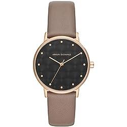 Armani Exchange Reloj Analógico para Mujer de Cuarzo con Correa en Cuero AX5553