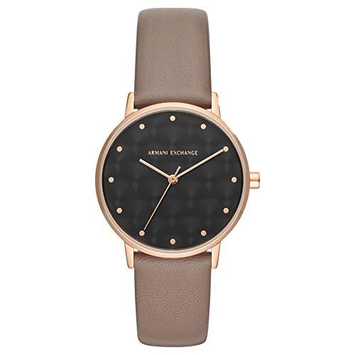 n Analog Quarz Uhr mit Leder Armband AX5553 ()