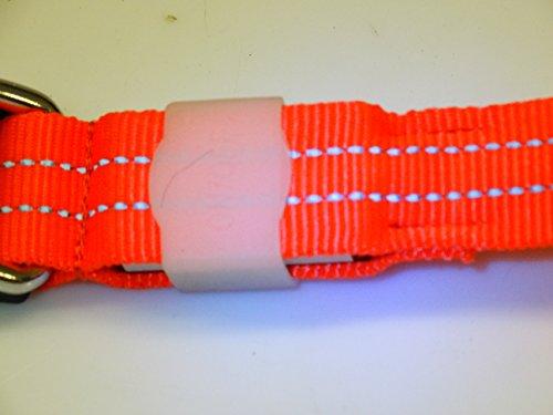 LED Leuchthalsband Basic 3 per USB aufladbar, Grün, Größe M - 4