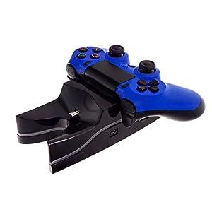 Smartfox LED Dual Ladestation Ladegerät für Sony Playstation 4 PS4 Dualshock Controller