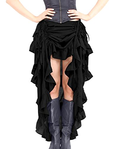 Burvogue - Falda - para Mujer Negro Negro Large