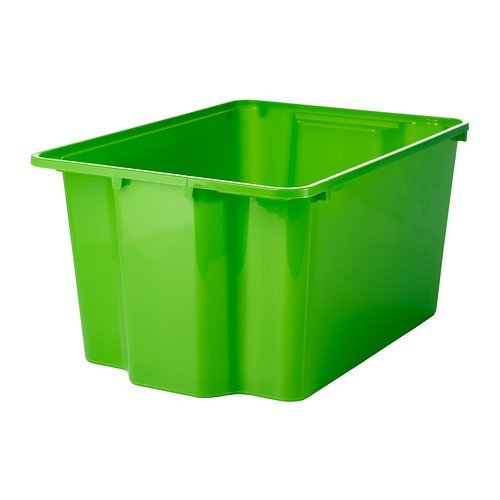 IKEA GLES Box in grün; stapelbar; (28x38x20cm)