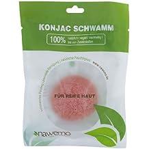 Esponja de konjac con arcilla rosa de Nawemo, para la piel madura y cansada