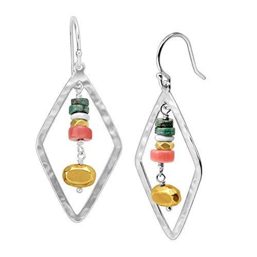 Silpada 'Colorful Array' Sterling Silber Drop Ohrringe (5 Regenbogen-akzenten)