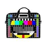 Ahomy 14 Zoll Laptop-Tasche, Test TV Bildschirm Leinwand Stoff Laptop Tasche Bussiness Handtasche mit Schultergurt für Damen und Herren