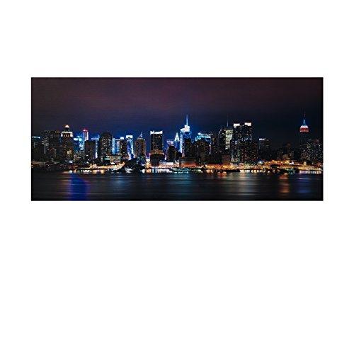 LED Bild Stadt , Bridge, Skyline XXL Bild, riesig , LED Stimmungsbild mit 20 LED / 120 cm Breit x 50...