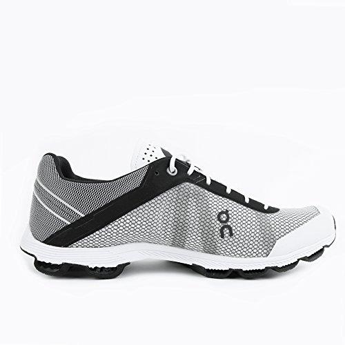On Running Cloudrush Black White Grau