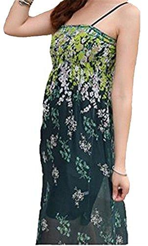 Demarkt Femme Robe de Plage Longue Robe de Bohème 3 Couleur Vert Noir Blanc Taille Unique Vert