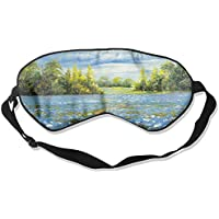 Sleep Eye Mask Blue Flower Field Lightweight Soft Blindfold Adjustable Head Strap Eyeshade Travel Eyepatch E10 preisvergleich bei billige-tabletten.eu