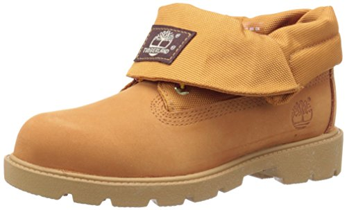 Timberland Roll-Top Single Shot Boot With Closure (Toddler/Little Kid/Big Kid), Wheat Nubuck, 7 M US Toddler (Boot Single Sole)