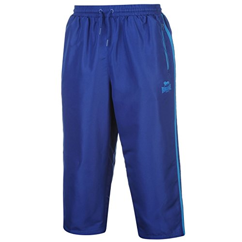 Lonsdale Uomo 2 Pantaloni Stripe Woven 43193 Blu