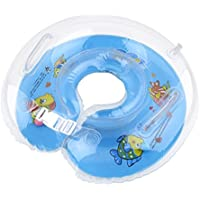 COSCELIA Saint-Acior Adjustable Inflatable Baby Newborn Swim Swimming Bath Ring Security Safety Aid Float , Fit for 0 months to 18 months