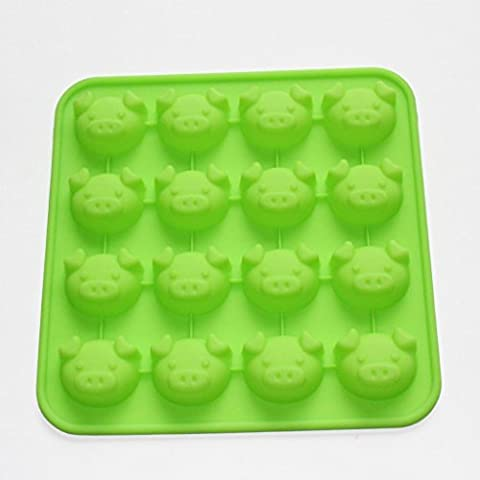 Vancgoods Cute Piggy Head Chocolate Candy Silicone Mould mold Ice Cube Tray Resin Clay Mold Silicone Party