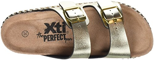 Xti 47895, Sandales Bout Ouvert Femme Or (Gold)
