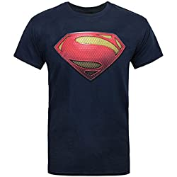 Official Superman Man of Steel Textured Men's T-Shirt (M)