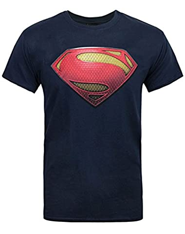 DC Comics Superman Man of Steel Textured Men's T-Shirt (S)