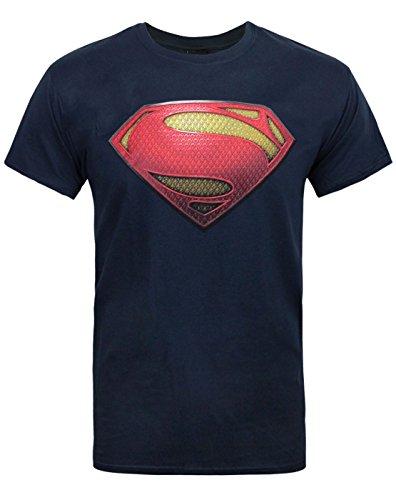 Official Superman Man of Steel Textured Men's T-Shirt (L)