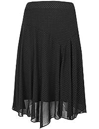 e3087e50ada Yours Clothing Women s Plus Size Textured Glitter Midi Skirt