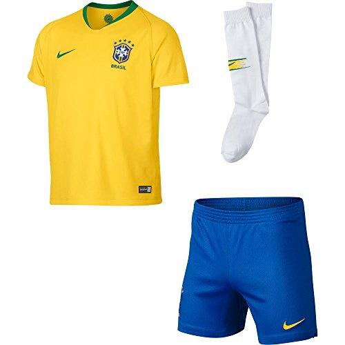 on sale 2fad2 a99f8 Nike 2018-2019 Brazil Home Little Boys Mini Kit