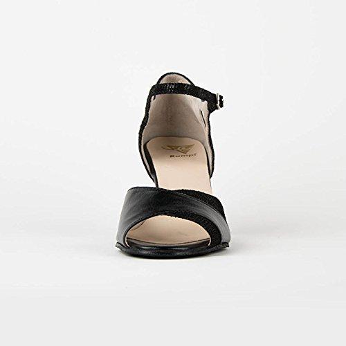 Torse de danse julia- premium line en cuir noir Noir - noir