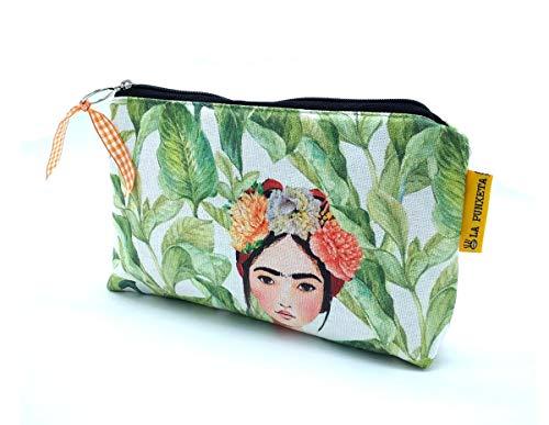 Neceser de tela Frida Kahlo México, Neceser hecho a mano, Neceser para mujer