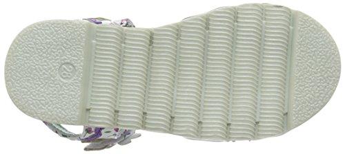 Irregular Choice Flower Face, Sandales  Bout ouvert fille Multicolour (White/Purple)