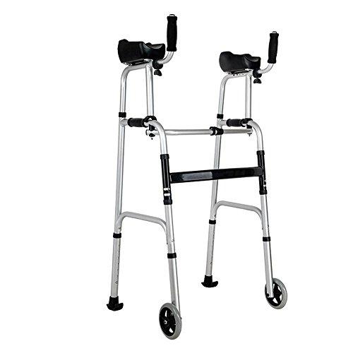 J&W Gehgestell mit Unterarmstützen und Rollen Zusammenklappbar Mobilitätshilfen Gehrahmen