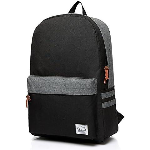 vaschy Unisex Classic impermeable mochila–Mochila de viaje portátil de 15