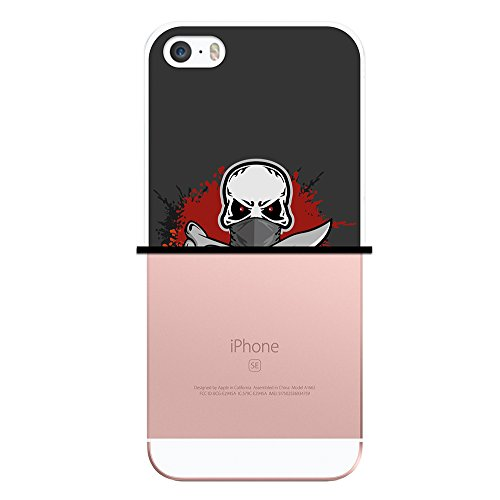 iPhone SE iPhone 5 5S Hülle, WoowCase Handyhülle Silikon für [ iPhone SE iPhone 5 5S ] Ninja Logo Handytasche Handy Cover Case Schutzhülle Flexible TPU - Transparent Housse Gel iPhone SE iPhone 5 5S Transparent D0400