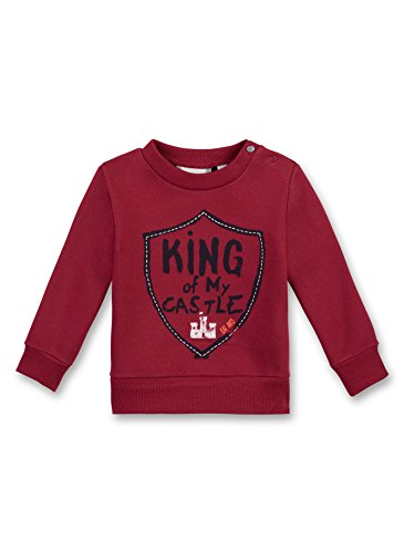 Sanetta Baby-Jungen Sweatshirt 114137, Rot (Red Brick 3491), 86