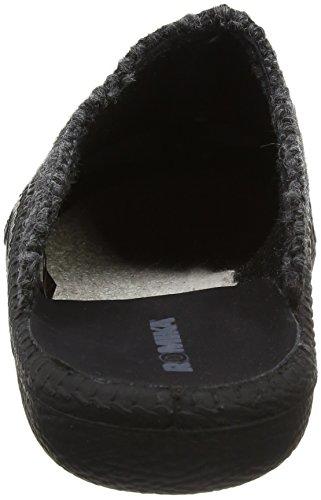 Romika Mokasso 233, Pantofole Uomo Grigio (Grau-kombi 711 711)