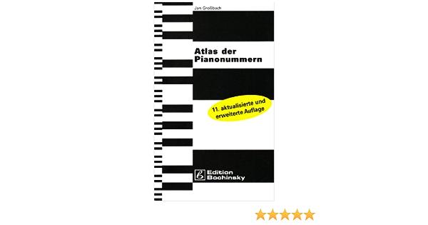 Atlas der Pianonummern  alphabetische Verzeichnis 6.000 Einträge Hersteller uvm